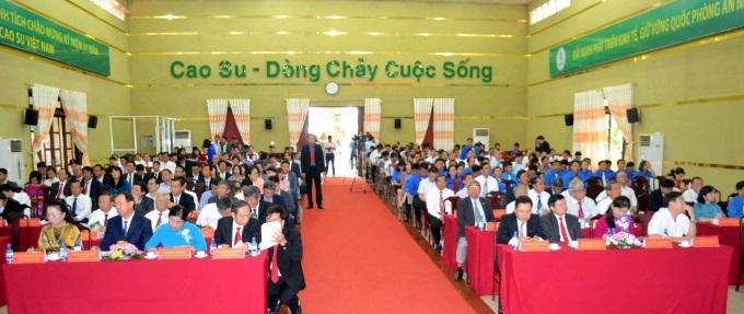 Ông Trần Ngọc Thuận - Chủ tịch HĐQT VRG phát biểu tại lễ kỷ niệm.  Ảnh: Trần Trung.